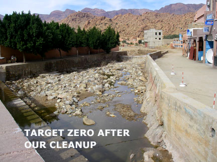 Cleaned river in Tafraoute Morocco.