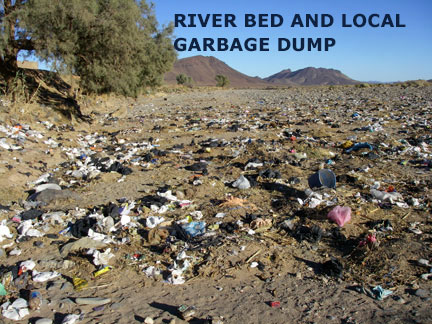 River bed and local garbage dump in Morocco.